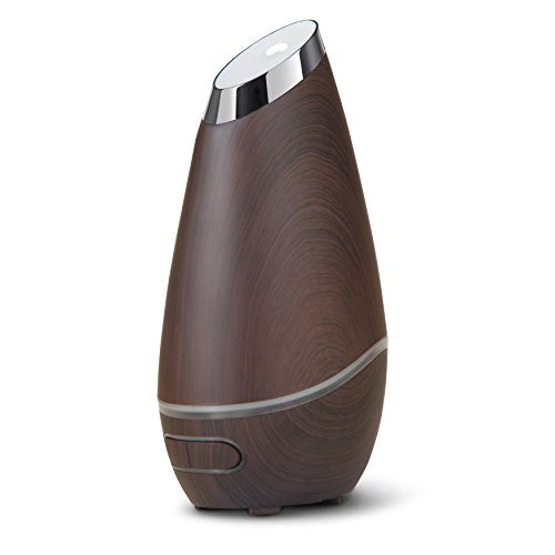 Brilliant Beauty SmartMist Aromatherapy Diffuser & Humidifier for Essential Oils & Aroma - Ultrasonic Technology & Modern, Wood Finish with Ambient Light - Air Purifier (Espresso)