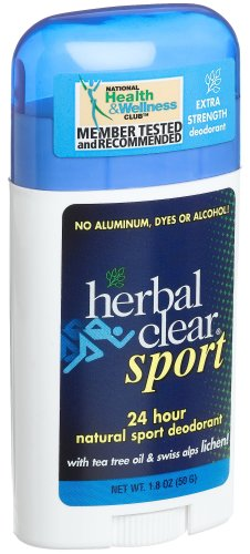 Herbal Clear 24 Hour Natural Sport Deodorant -- 1.8 oz