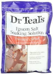 Dr Teal's Pure Epsom Salt Soaking Solution Rosemary and Mint 3 lbs(Pack of 3)