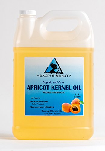 Apricot Kernel Oil Carrier Cold Pressed Organic 128 oz, 7 LB, 1 gal