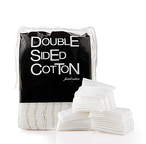 Healthcom Cosmetic Cotton Makeup Cut Cotton Soft Cotton Puff Double-Sided Cotton Pads Stitched Cottton Balls,200 Pcs