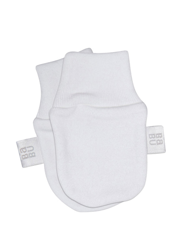Organic Cotton Mittens - White