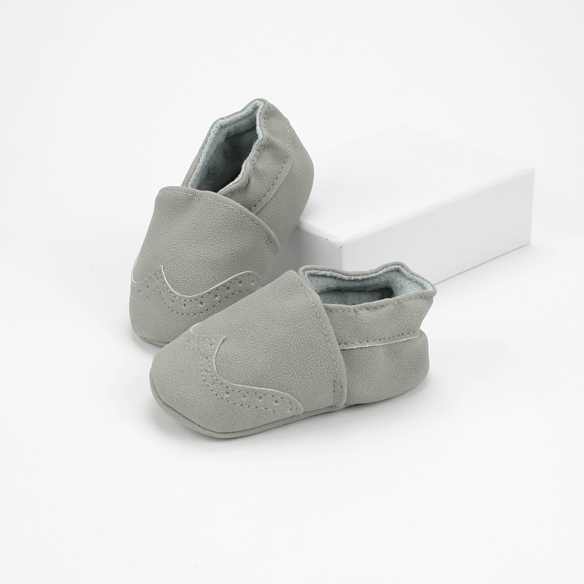 Dove Grey Baby Moccasins