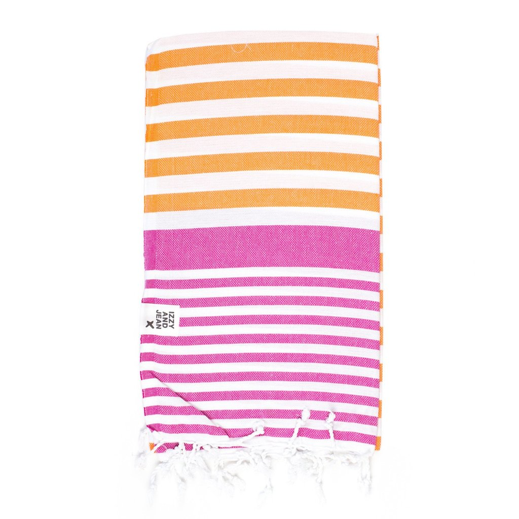 Turkish Towel Orange Fuchsia