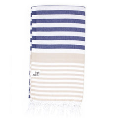 Turkish Towel Navy | Beige