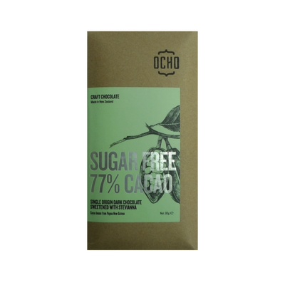 OCHO 77% Cacao Chocolate Sugar Free