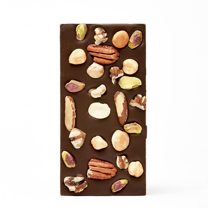 Handmade Chocolate Bar | Mixed Nut Dark