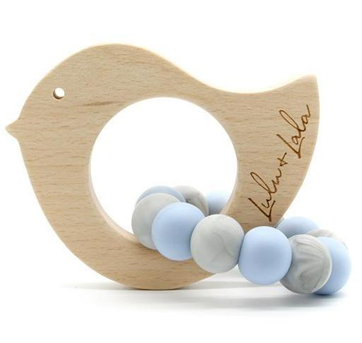 Lulu Lala Tweet Teething Toy - Blue