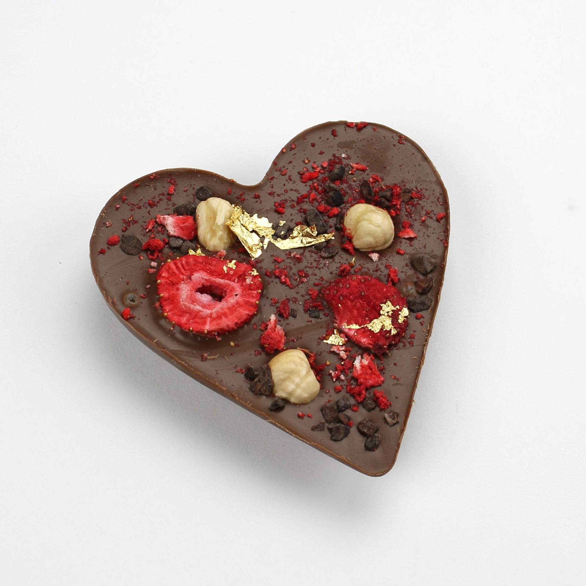 Milk Chocolate Heart |Strawberry & Hazelnut