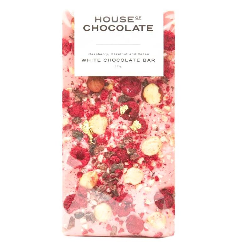 Handmade Chocolate Bar | Raspberry & Hazelnut