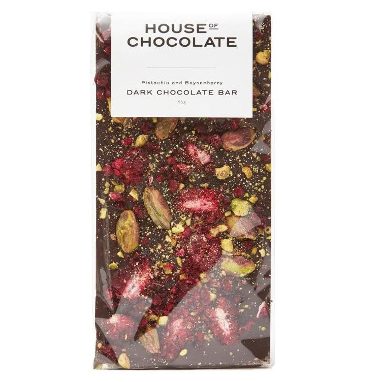 Handmade Chocolate Bar | Boysenberry & Pistachio