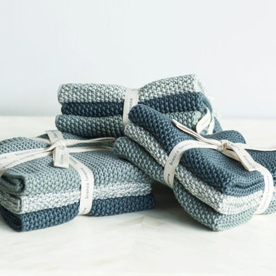 Lavette Teal Washcloths - set of three