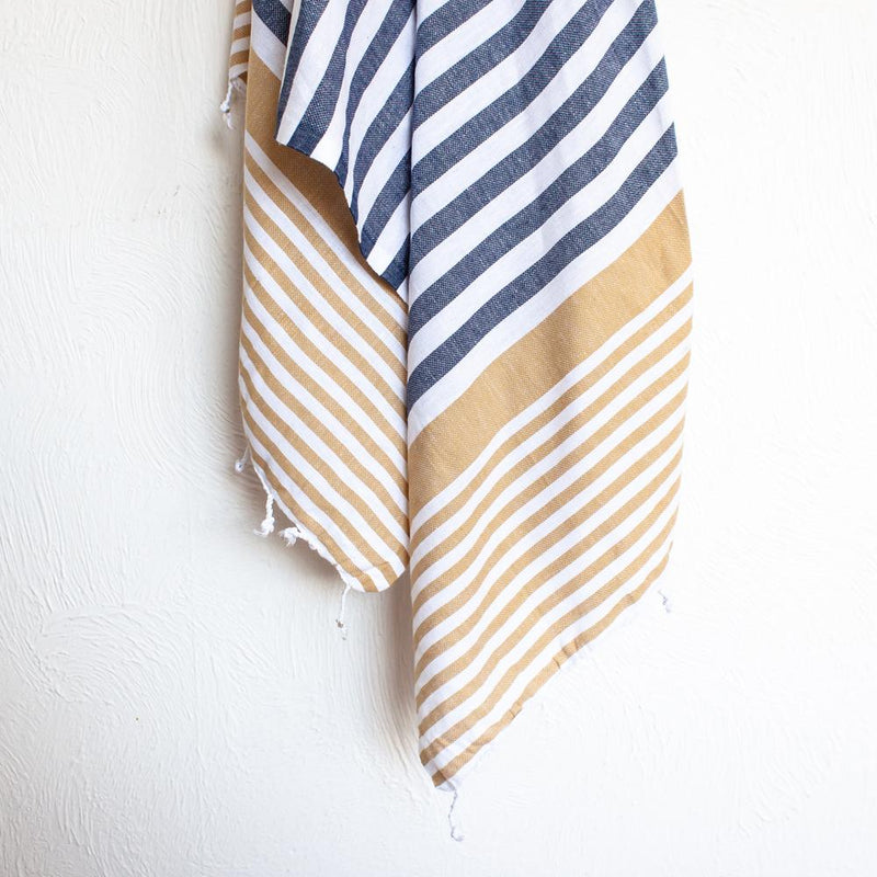 Turkish Towel Navy | Mustard