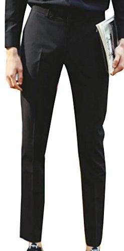 Sheng Xi Men Skinny Casual Straight Separate Suit Dress Pant Black S