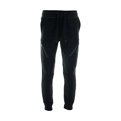 Switch Remarkable - Men's Quilted Motto Fleece Jogger - Black