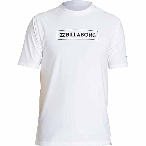Billabong Men's All Day Unity Loose Fit Short Sleeve, White, Small