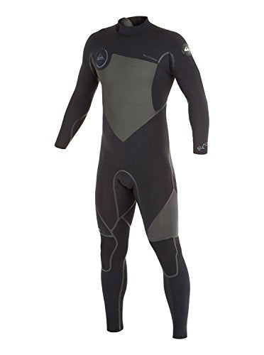 Quiksilver Mens Syncro Lfs 4/3Mm - Back Zip Wetsuit Wetsuit Black Mt
