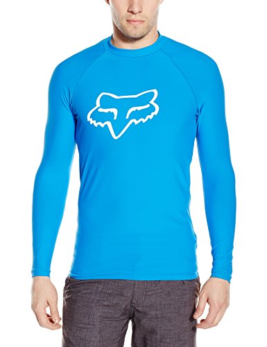 Fox Men's Legacy Long Sleeve Rashguard, Blue, Medium