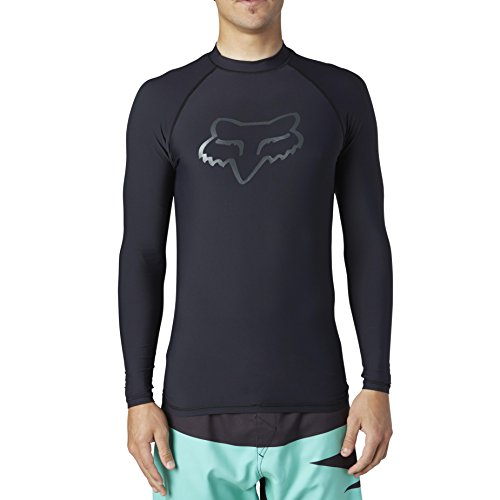 Fox Men's Legacy Long Sleeve Rashguard, Black, Large