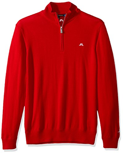 J.Lindeberg Men's M Kian Tour Merino, Red Intense, M