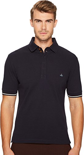 Vivienne Westwood Men's Piquet Overlock Polo, Navy, XL
