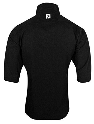 FootJoy DryJoys Tour XP Short Sleeve Rain Shirt (Black, X-Large)