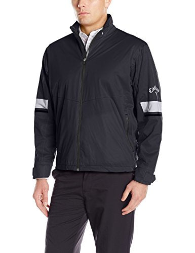 Callaway Men's Golf Performance Full Zip Waterproof Jacket, Black (002), XX-Large