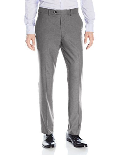 Greg Norman Men's Flat Front Slim Fit Suit Separate Pants, Light Grey, 38W X 30L
