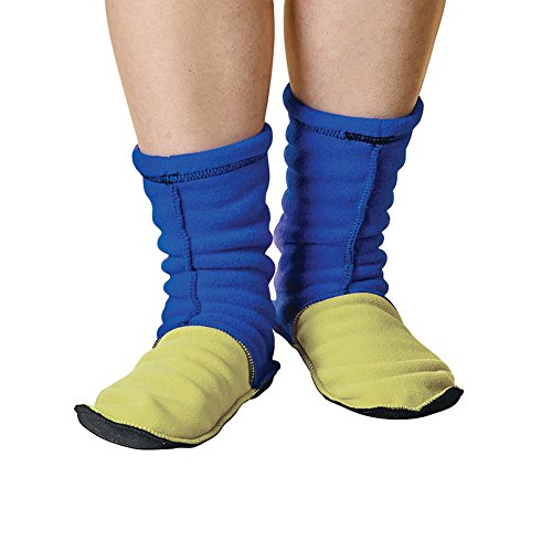 Unisex-Adult Mocsocks - Fleece Slipper Socks Non-Skid - Kiwi - Medium