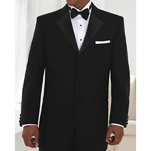 "Neil Allyn One Button Notch Lapel Poly/Wool Tuxedo Jacket and Pants - 36 Regular Jacket + 30""-32"" Adj. Pant"
