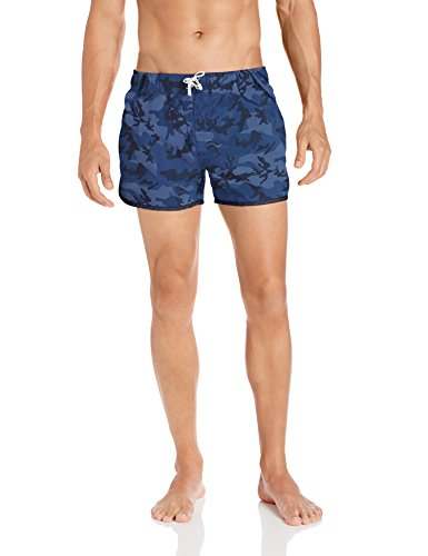 2(x)ist Men's Jogger Swim Trunk, Camo/Navy, Large