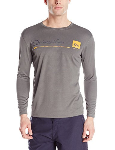Quiksilver Waterman Men's La Costa Long Sleeve Rash Guard, Charcoal, XX-Large