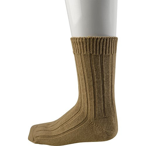 Slenderella Pack of 2 Mens 100% Acrylic Ribbed Bed Socks One Size to Fit UK 8 - 11 (Camel)