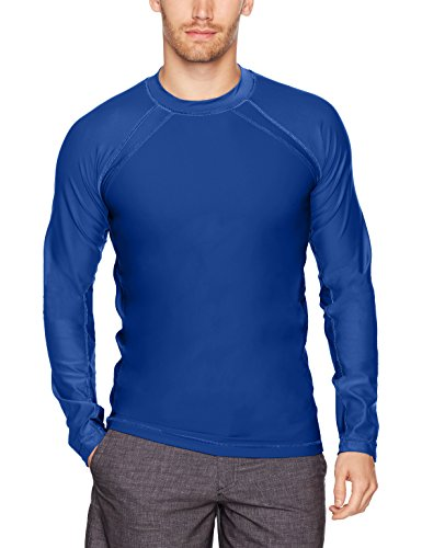 Cabana Life Men's Long Sleeve UPF 50+ Rashguard, Navy, X-Large