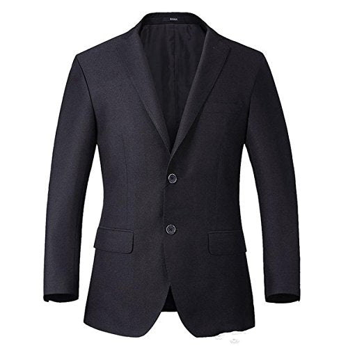 MLT Men's 2-Pieces Black Business Groom Suits (M)