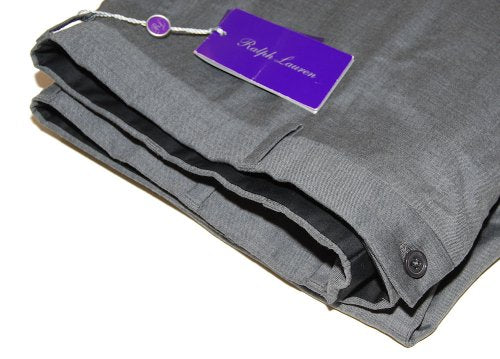 Polo Ralph Lauren Purple Label Mens Gray Flat Front Dress Pants Wool Italy 42