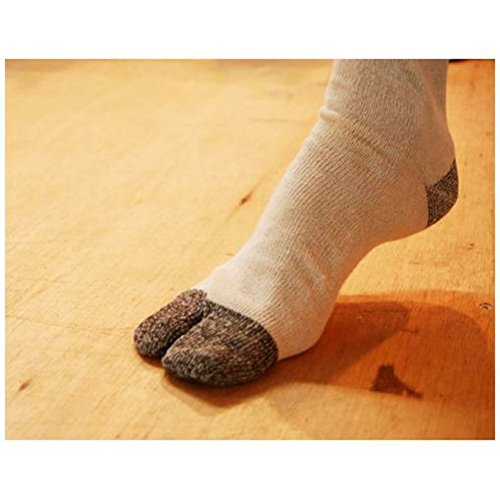 Tabi Socks, 6 pairs/ Flip Flop Socks-Athletic Flip/ Geta Socks (Grey, US 8.5-10)