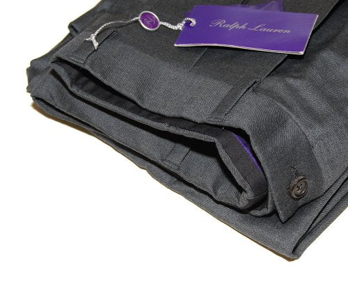 Polo Ralph Lauren Purple Label Gray Mens Pleated Dress Pants Wool Italy 40