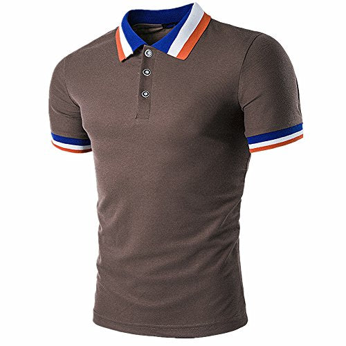 Men's Casual Fit Short Sleeve Polo T-shirt