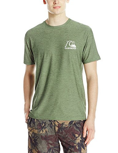Quiksilver Men's Herritage Short Sleeve Rashguard, Four Leaf Clover, Large