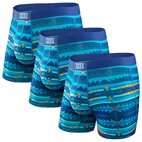 Saxx Men's Vibe Boxer Modern Fit - Blue Sunset (M) - 3 Pack