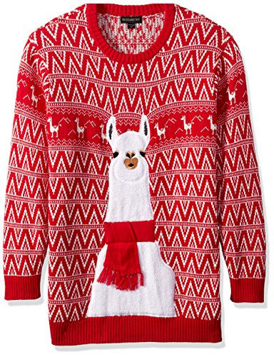 Blizzard Bay Men's Big and Festive Llama Ugly Christmas Sweater, Red/White, X-Large Tall