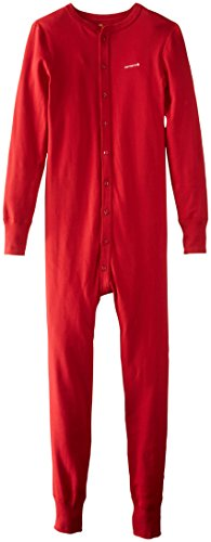 Carhartt Men's Midweight Cotton Union Suit, Red, Medium Regular