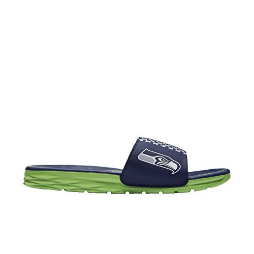 Nike Men Benassi Solarsoft Slide Nfl (college navy / action green) Size 6 US