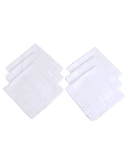 Men's Solid Cotton Handkerchiefs 6 pieces