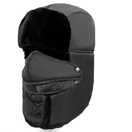 90 Points Unisex Winter Trooper Trapper Hat, Skiing Hat, Ushanka Ear Flap, Windproof Mask, Hunting Hat, Assorted Colors (Gray)