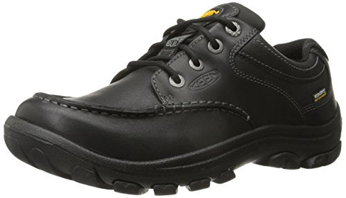KEEN Men's Anchor Park Low WP Casual Shoe, Black Full Grain, 8.5 M US