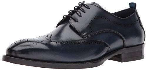 Steve Madden Men's Candyd Oxford, Navy Leather, 12 M US