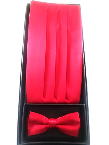 D7009 Cummerbund Bow Tie Set Assorted Colors
