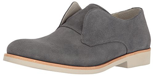 Calvin Klein Men's Fedrico Oily Suede Oxford, Grey, 8.5 M US